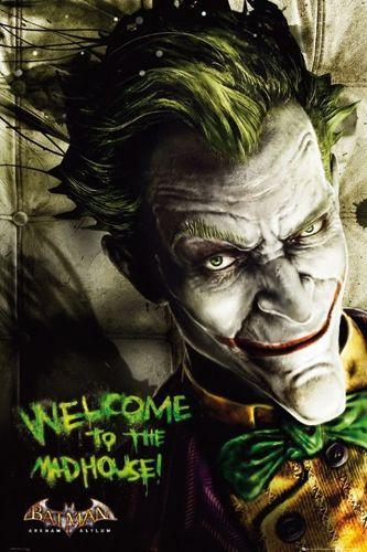 Arkham Asylum Comic Joker Poster batman - arkham asylum Joker Comic Poster