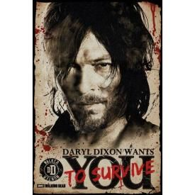Poster THE WALKING DEAD - Daryl Dixon Wants You