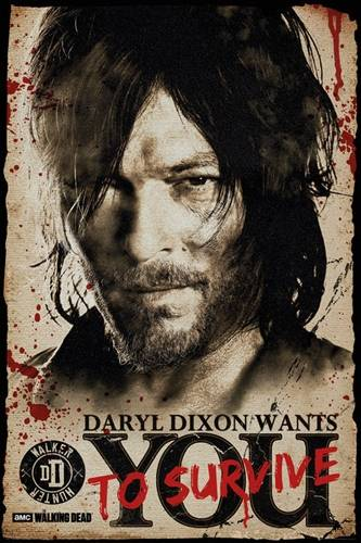 poster the walking dead daryl dixon wants you posters rock a gogo. Black Bedroom Furniture Sets. Home Design Ideas