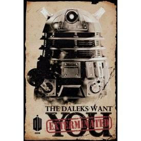 Poster DOCTOR WHO - The Daleks Want You