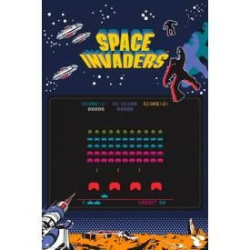 Poster SPACE INVADERS - Screen
