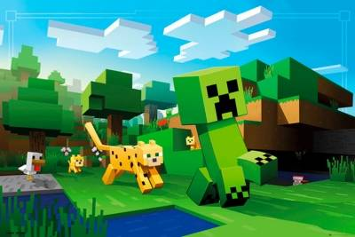 poster minecraft ocelot chase posters rock a gogo. Black Bedroom Furniture Sets. Home Design Ideas