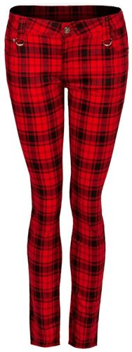 pantalon nana jawbreaker red tartan pantalons rock a gogo. Black Bedroom Furniture Sets. Home Design Ideas