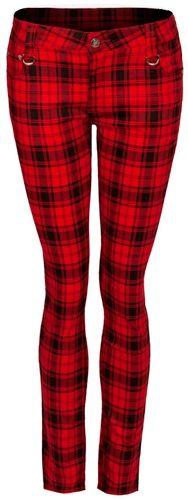 pantalon nana jawbreaker red tartan pantalons rock a gogo. Black Bedroom Furniture Sets. Home Design Ideas