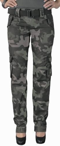 pantalon femme surplus cargo premium slimmy camo pantalons rock a gogo. Black Bedroom Furniture Sets. Home Design Ideas