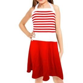 Robe Enfant T-BAR - Red Stripes