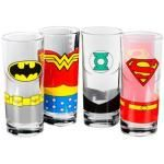 Set de 4 Verres DC COMICS - Justice League
