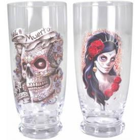 Set de 2 Verres Spiral DARK DÉCO - Day Of The Dead