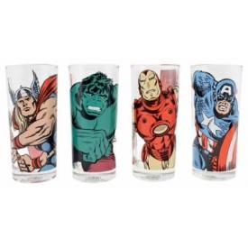 Set de 4 Verres MARVEL COMICS - Personnages