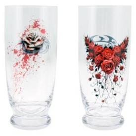 Set de 2 Verres Spiral DARK DÉCO - Blood Rose