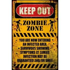 Poster KEEP OUT - Zombie Zone