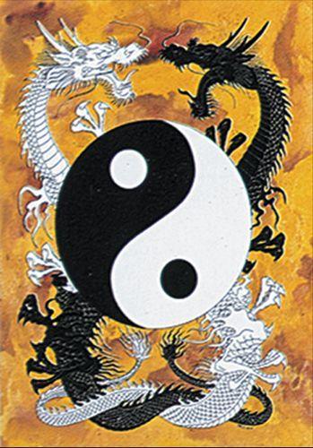 drapeau ying yang dragons drapeaux rock a gogo