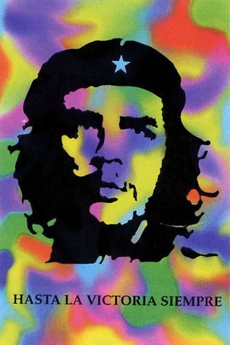 A Gogo Colours Rock Drapeau Che Guevara Y76gbfy