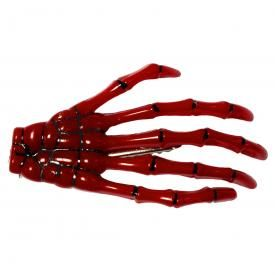 Barrettes BANNED - Red Skeleton Hand