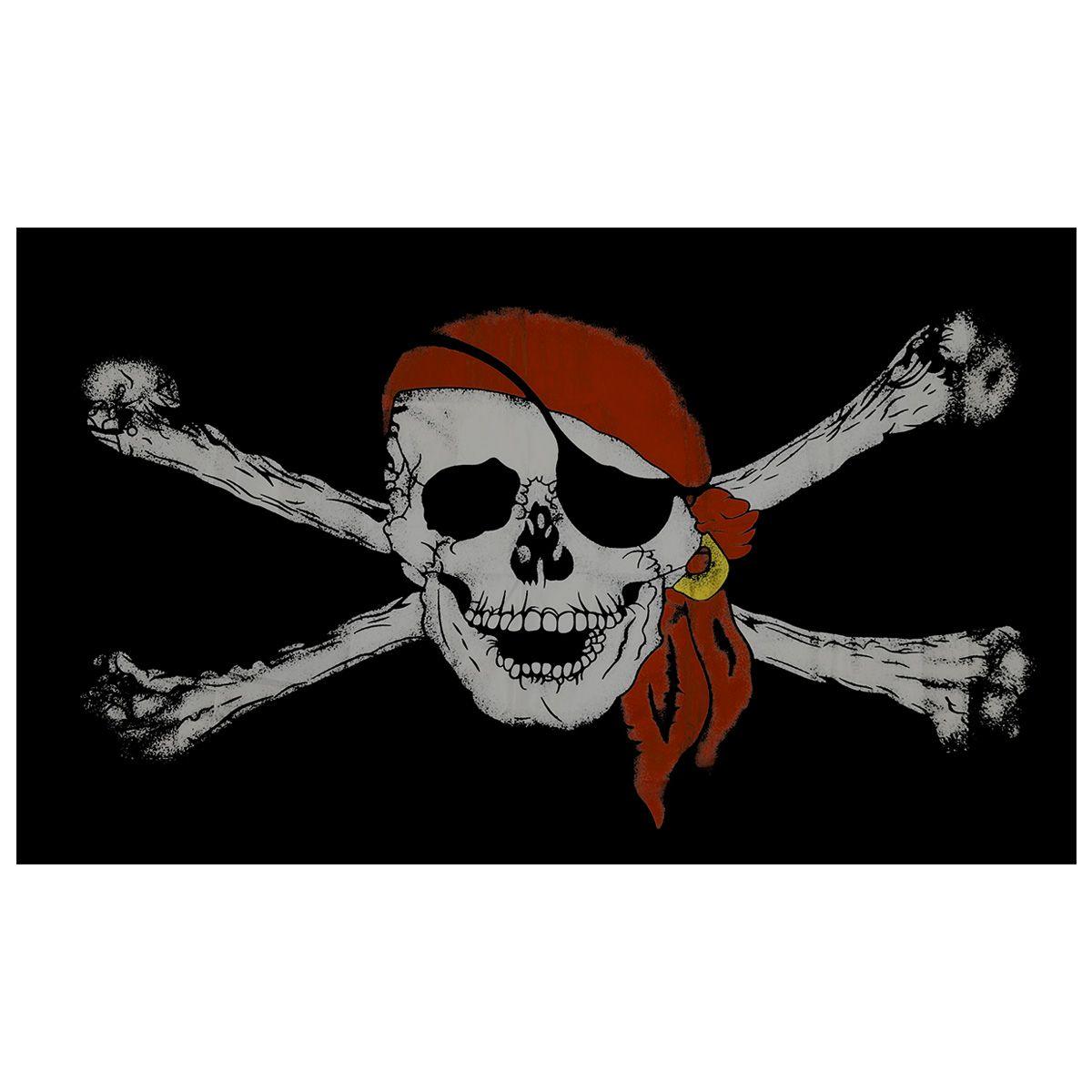 drapeau tete de mort pirate bandana rouge rock a gogo. Black Bedroom Furniture Sets. Home Design Ideas