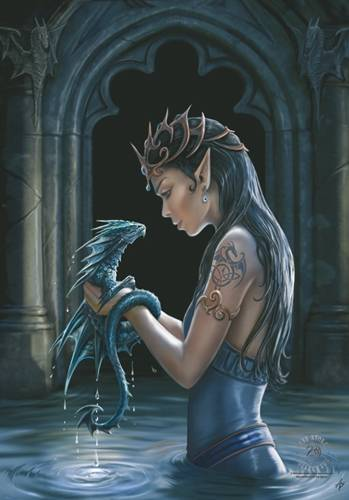 image de drapeau anne stokes water dragon