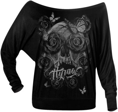 tee shirt manches longues femme hyraw dark angel t. Black Bedroom Furniture Sets. Home Design Ideas
