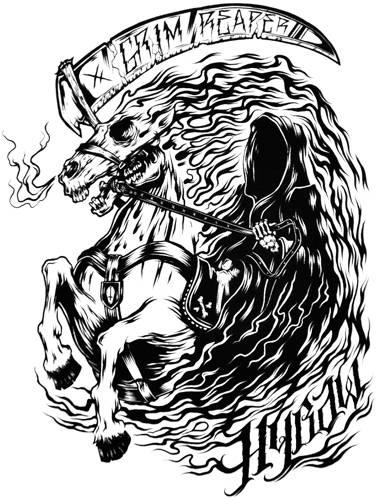 Tee Shirt Femme HYRAW - Grim Reaper - Rock A Gogo