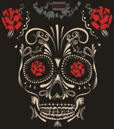 skinny nana jawbreaker sugar skull roses t shirts rock a gogo. Black Bedroom Furniture Sets. Home Design Ideas