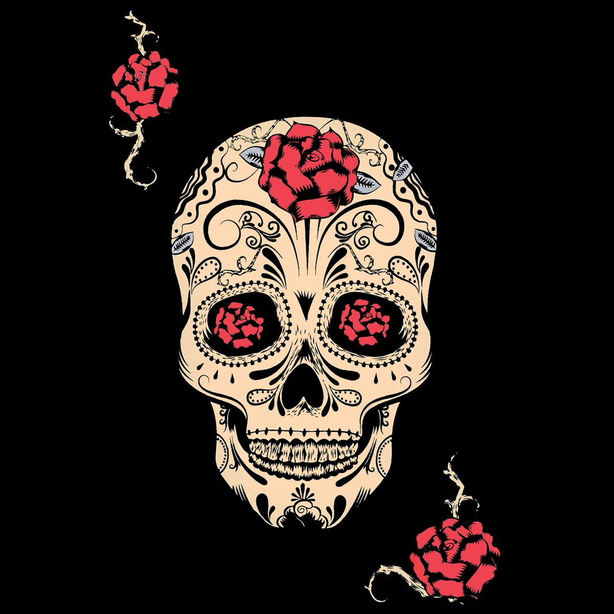 d bardeur nana jawbreaker sugar skull roses d bardeurs. Black Bedroom Furniture Sets. Home Design Ideas