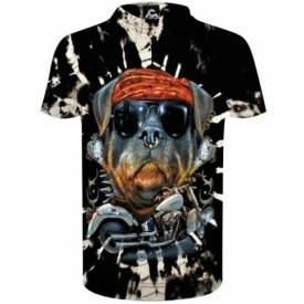 T-Shirt Enfant DARK WEAR - Biker Dog Tie & Dye