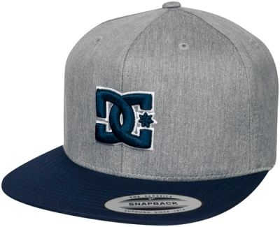 casquette dc shoes snappy grey navy casquettes rock. Black Bedroom Furniture Sets. Home Design Ideas