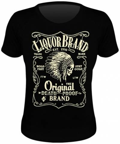 Tee shirt femme liquor brand fire water rock a gogo for On fire brand t shirts