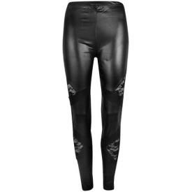 Leggings LONG - Laces Leatherette