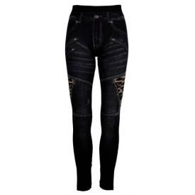 Leggings All Over LONG - Slim Jeans Leppard