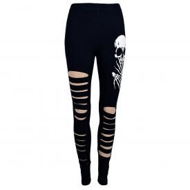 Leggings Long BANNED - Slashed Skull