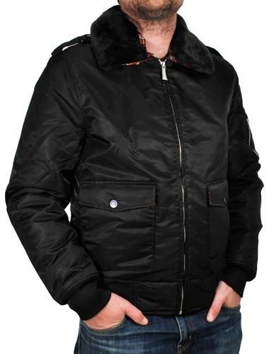 veste harrington flight jacket noir vestes blousons rock a gogo. Black Bedroom Furniture Sets. Home Design Ideas