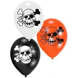 Pack de 6 Ballons PIRATE - Bandeau