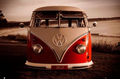 Poster brendan ray vw combi posters rock a gogo - Affiche combi volkswagen ...