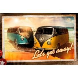 Poster VW CAMPER - Let's Get Away