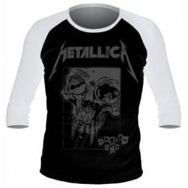T-Shirt Mec Manches 3/4 METALLICA - Damage Inc Baseball