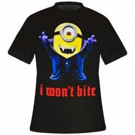 T-Shirt Mec MINIONS - I Won't Bite
