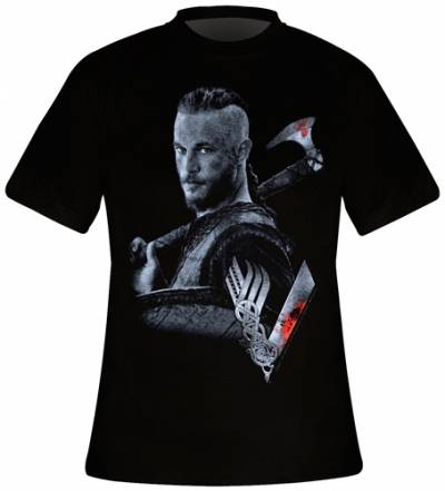 t shirt homme vikings ragnar rock a gogo. Black Bedroom Furniture Sets. Home Design Ideas