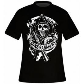 T-Shirt Mec SONS OF ANARCHY - Reaper Logo
