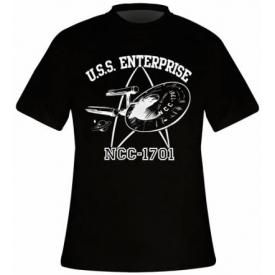 T-Shirt Mec STAR TREK - USS Enterprise