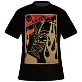 T-Shirt Mec STAR WARS - Darth Vader Flaming