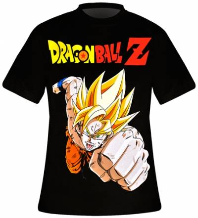 t shirt homme dragon ball z sangoku saiyan rock a gogo. Black Bedroom Furniture Sets. Home Design Ideas