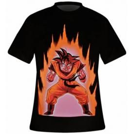 T-Shirt Mec DRAGON BALL Z - Sangoku On Fire