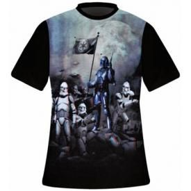 T-Shirt Mec FREEGUN - Star Wars 3D Jango Fett