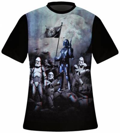 Image de T-Shirt Mec FREEGUN - Star Wars 3D Jango Fett