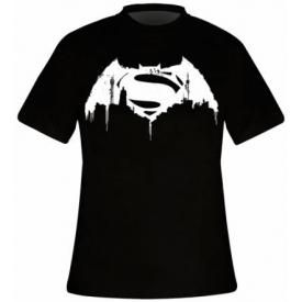 T-Shirt Mec BATMAN V SUPERMAN - Beaten Logo