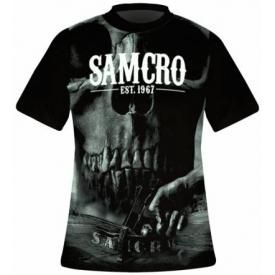 T-Shirt Mec SONS OF ANARCHY - Samcro Skull