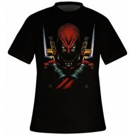 T-Shirt Mec DEADPOOL - Warning