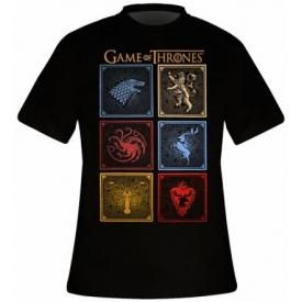 T-Shirt Mec GAME OF THRONES - Badges Of The King