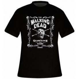 T-Shirt Mec THE WALKING DEAD - Survive Or Die