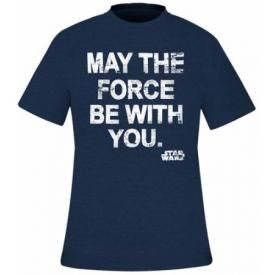 T-Shirt Mec STAR WARS - May The Force Blue